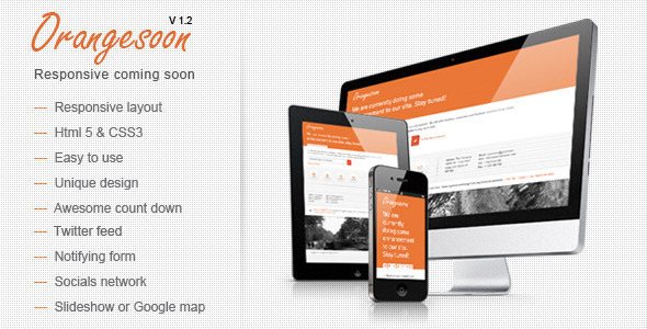 Orangesoon - Comingsoon Template - Under Construction Specialty Pages