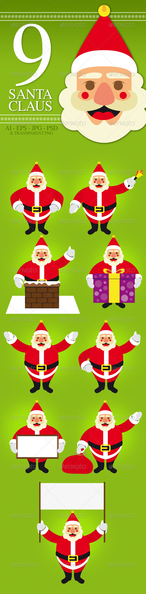 Santa Claus Pack - People Characters