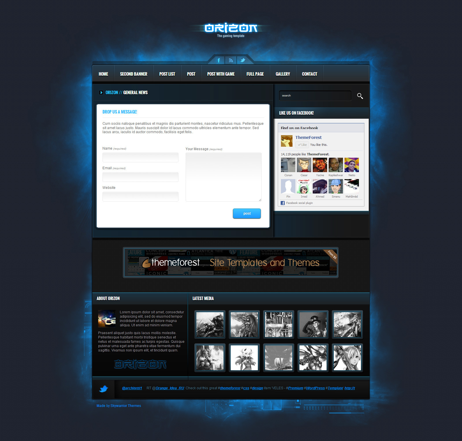 Orizon - The Gaming Template HTML version by Skywarrior   ThemeForest