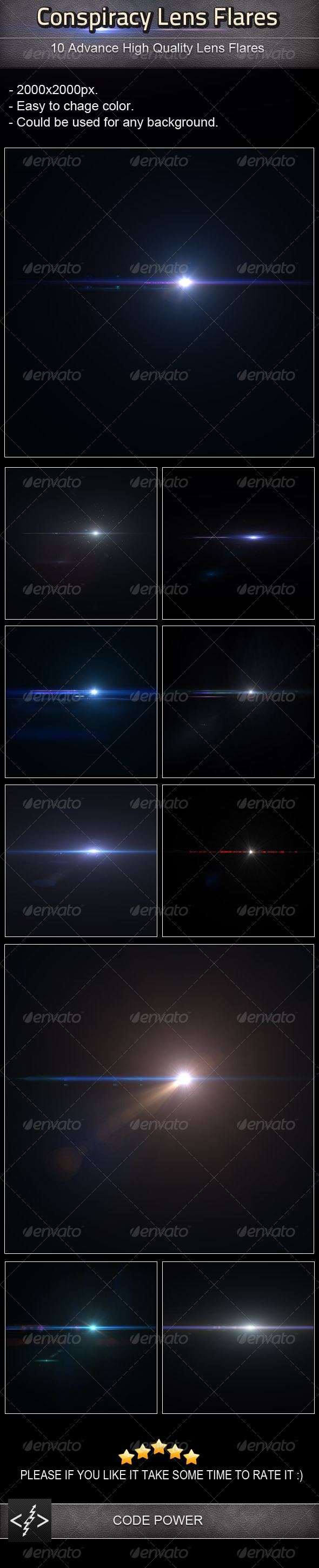 Conspiracy Lens Flares - Decorative Graphics