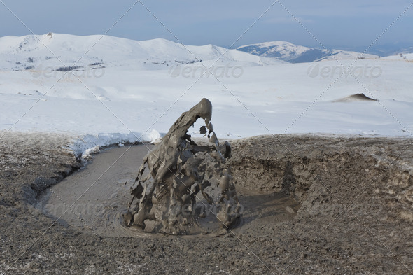 Mud Volcano In Buzau, Romania - Stock Photo - Images