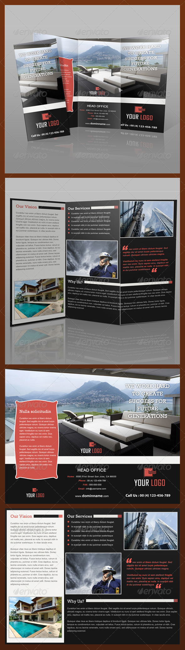 Real Estate Tri-Fold Brochure - Brochures Print Templates