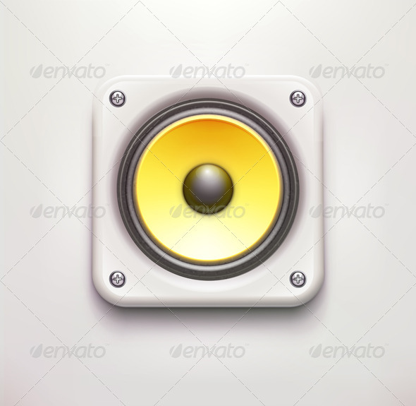 Sound Loud Speaker  - Web Elements Vectors