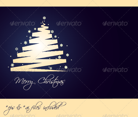 Merry Christmas – Vector Christmas Card - Christmas Seasons/Holidays