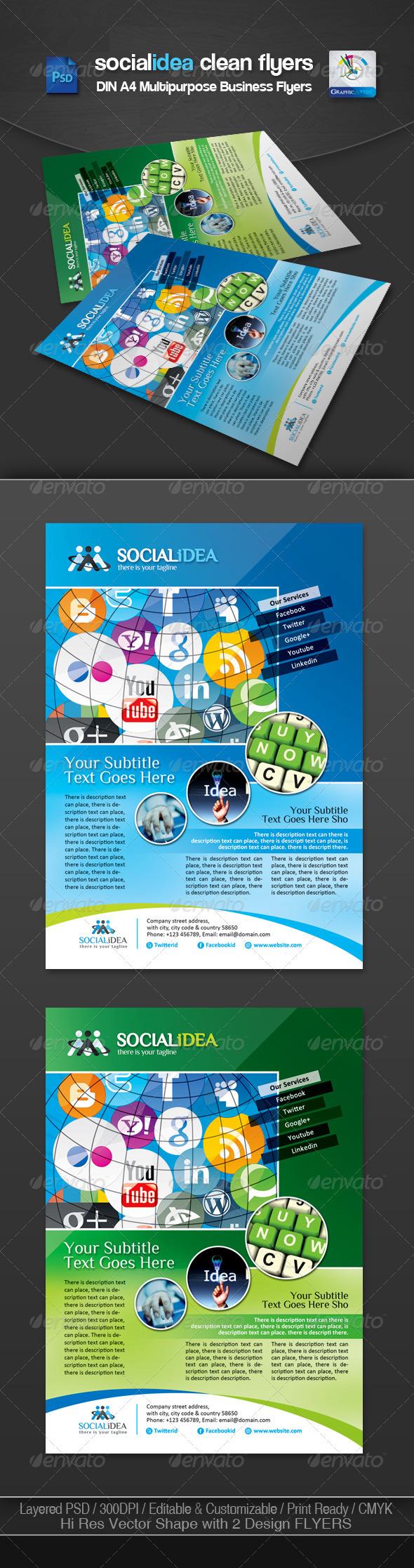 Socialidea Corporate Social Media Flyer/Ads - Corporate Flyers