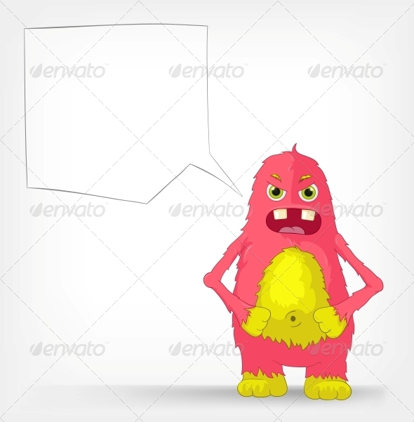 Funny Monster. Angry. - Monsters Characters