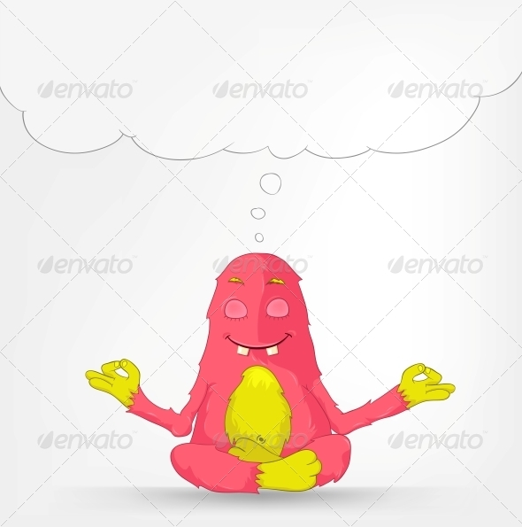 Funny Monster - Yoga - Monsters Characters