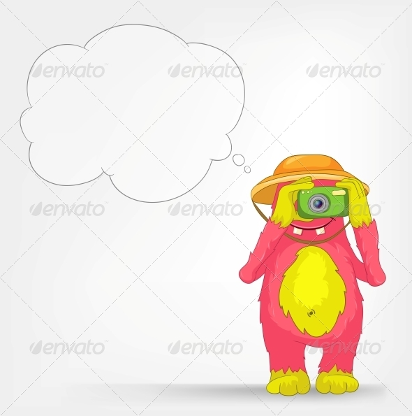 Funny Monster - Tourist Photographer - Monsters Characters