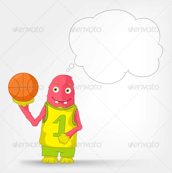 Funny Monster - Basketball - Monsters Characters