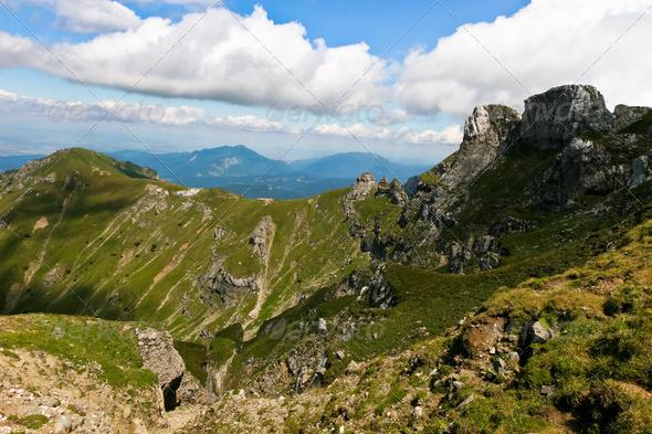 mountain peaks - Stock Photo - Images