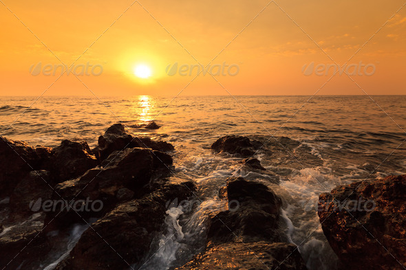 waves ashore - Stock Photo - Images