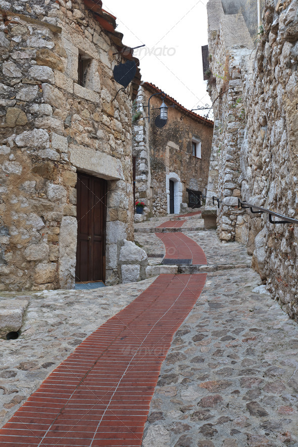Street of Eze - Stock Photo - Images