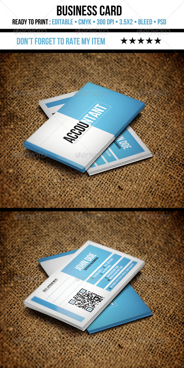 Accountant Business Card - Corporate Business Cards