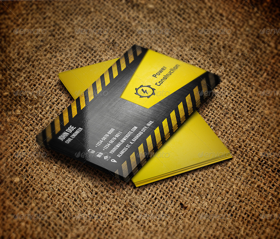 Construction Business Card by OWPictures | GraphicRiver