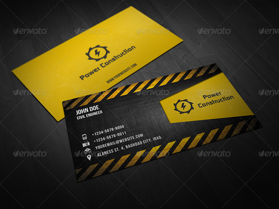 construction business cards - Military.bralicious.co