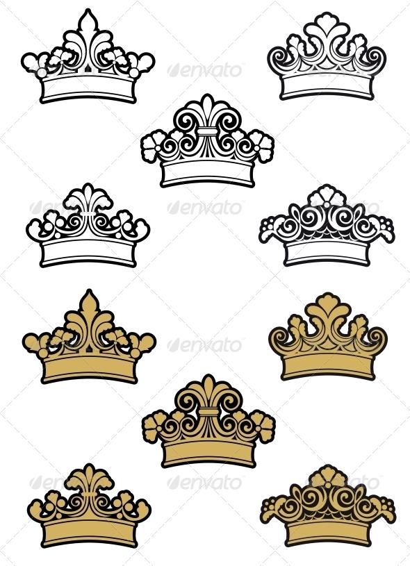 Heraldic Crowns - Decorative Symbols Decorative