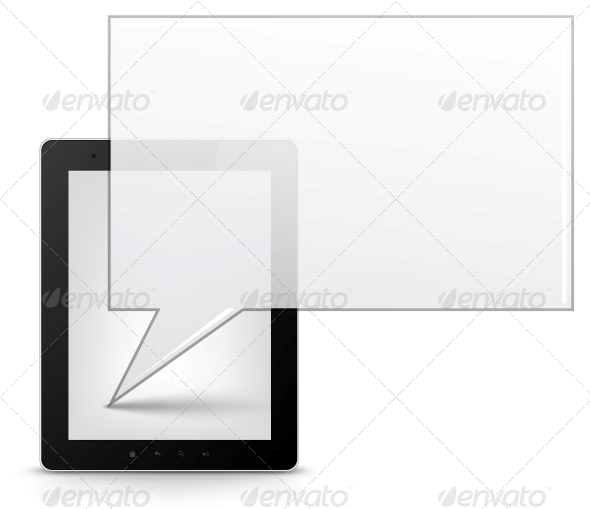 Tablet PC. Vector EPS 10. - Computers Technology