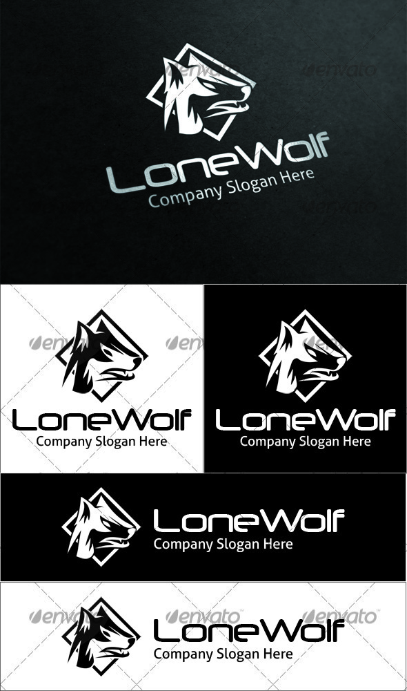 Lone Wolf Logo - Animals Logo Templates