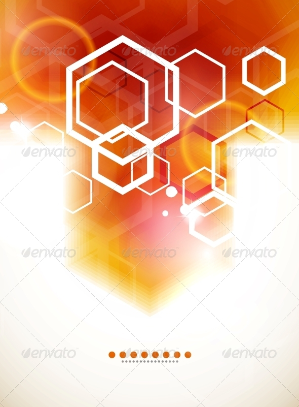 Orange Abstract Blurred Hexagon Background - Backgrounds Business