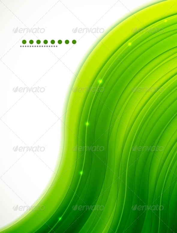 Light Glittering Green Wave Background - Backgrounds Business