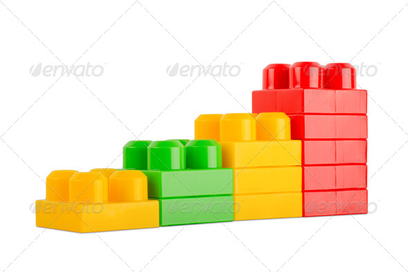 colorful toy cubes - Stock Photo - Images