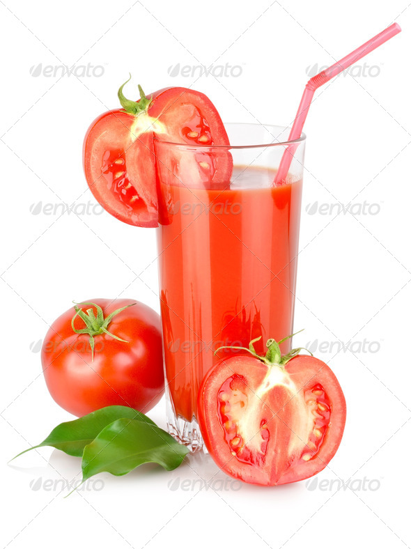 Tomato juice in a glass - Stock Photo - Images