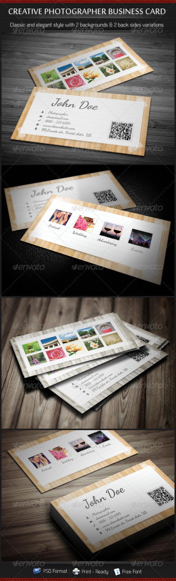 Creative Photographer Business Card - Creative Business Cards
