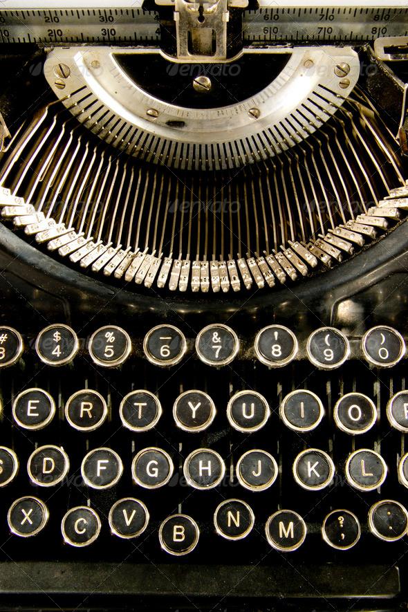Vintage Keyboard - Stock Photo - Images