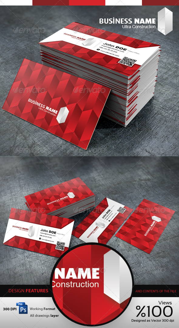 Construction - Business Cardvisid - Creative Business Cards