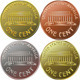 Vector American Money Gold Coin One Cent Penny - GraphicRiver Item for Sale