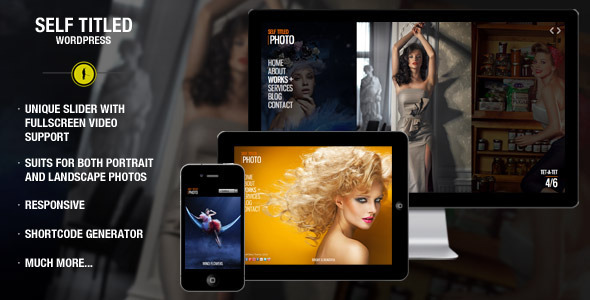 Self Titled – responsive & unique WordPress theme