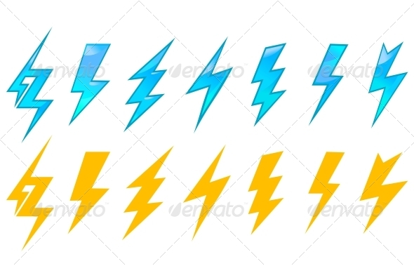 Lightning Icons and Symbols - Decorative Symbols Decorative