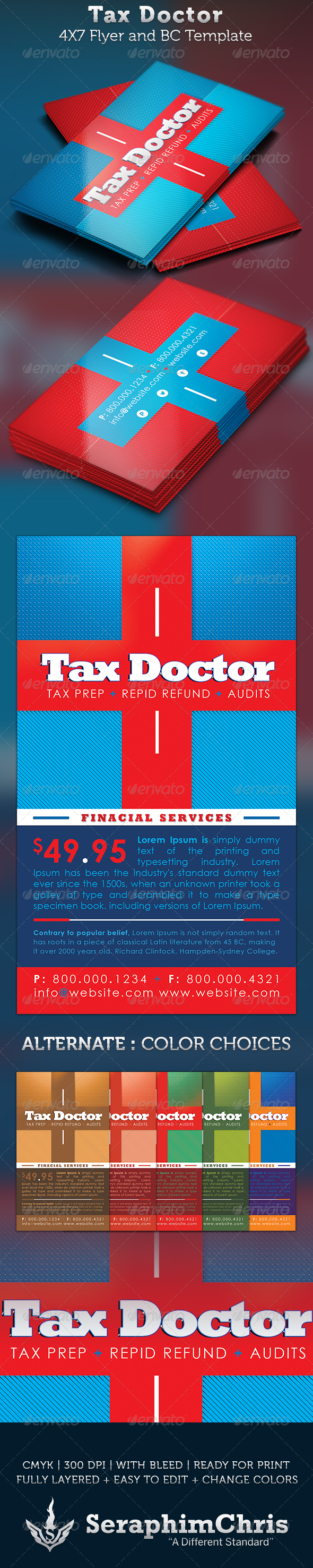 Tax Doctor Business Card and Flyer Template by SeraphimChris ...