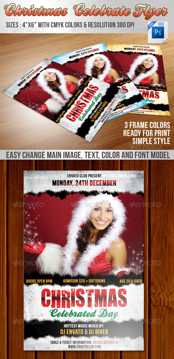 Christmas Celebrate Flyer - Events Flyers