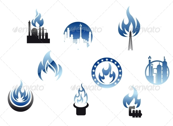 Gas Industry Symbols and Icons - Industries Business