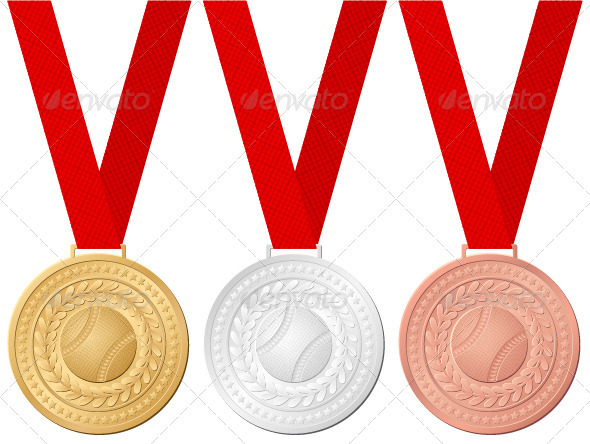 Baseball Medals - Sports/Activity Conceptual