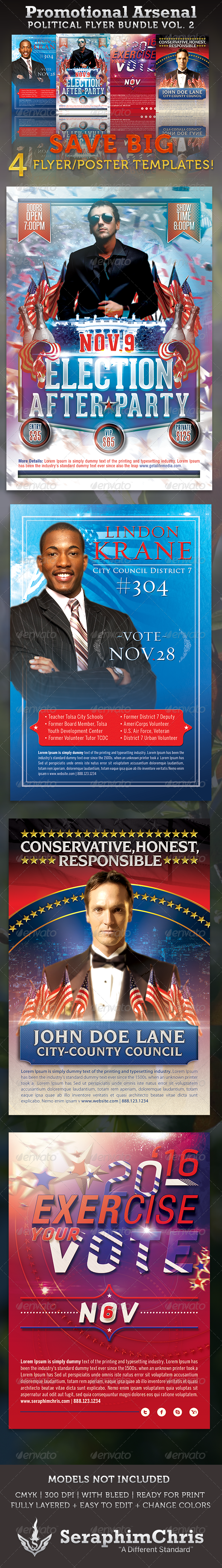 Promotional Arsenal Political Flyer Bundle 2 - Corporate Flyers