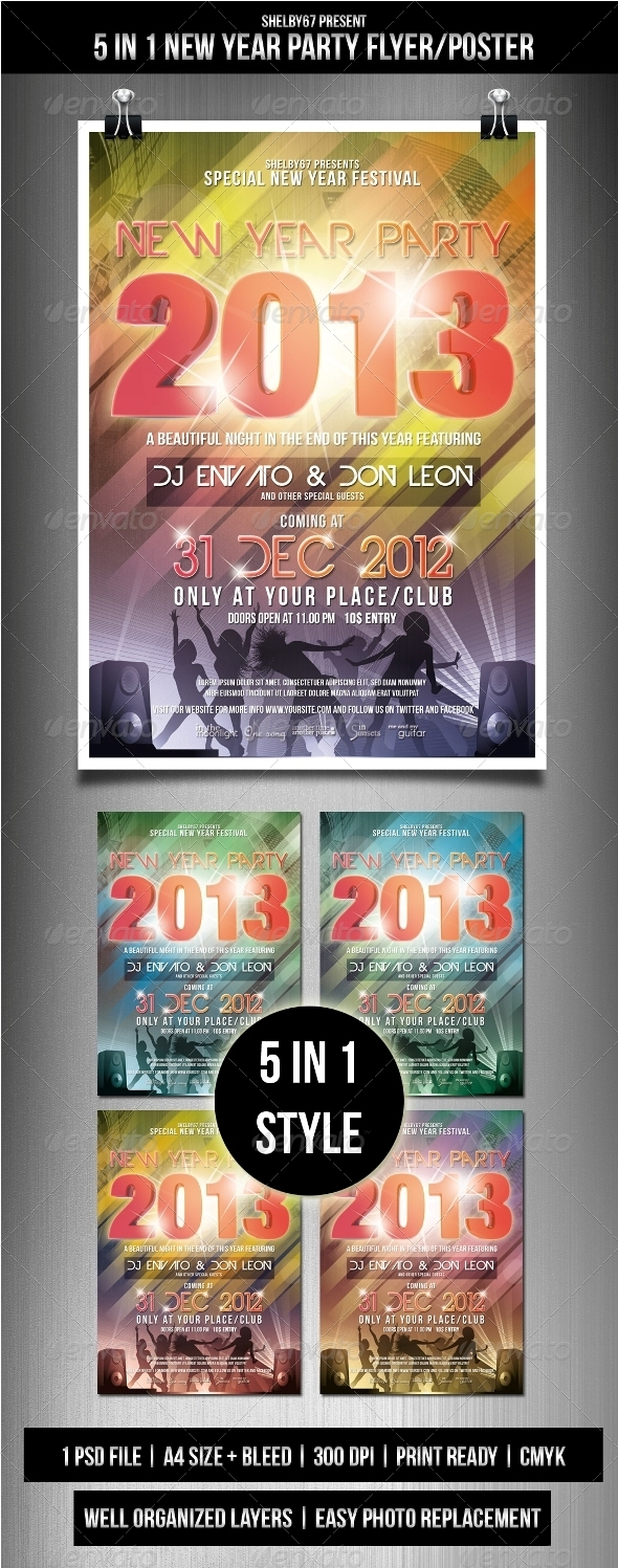 New Year Party Flyer / Poster - Events Flyers