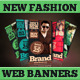 New Fashion Web Banners & Advertise - GraphicRiver Item for Sale