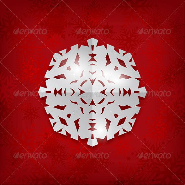 Paper Snowflake Background - Christmas Seasons/Holidays