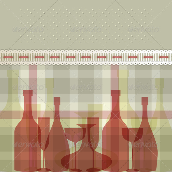 Red Bottles - Backgrounds Decorative