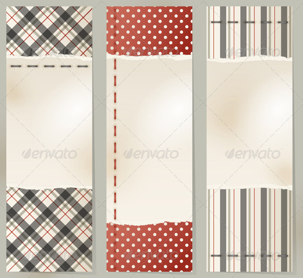 Vintage Banners - Backgrounds Decorative