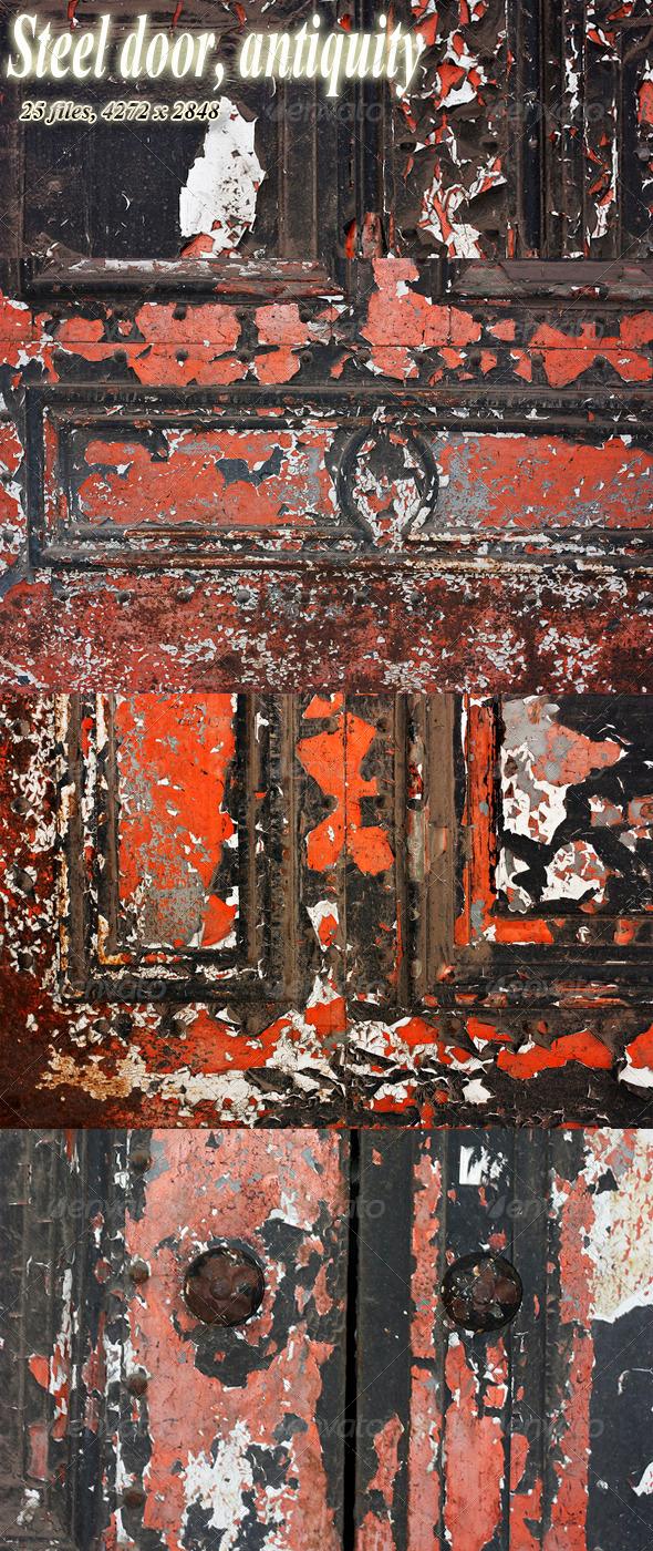 Iron Decorative Door Antiquity - Metal Textures
