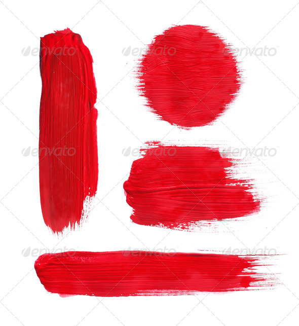 red paint - Stock Photo - Images