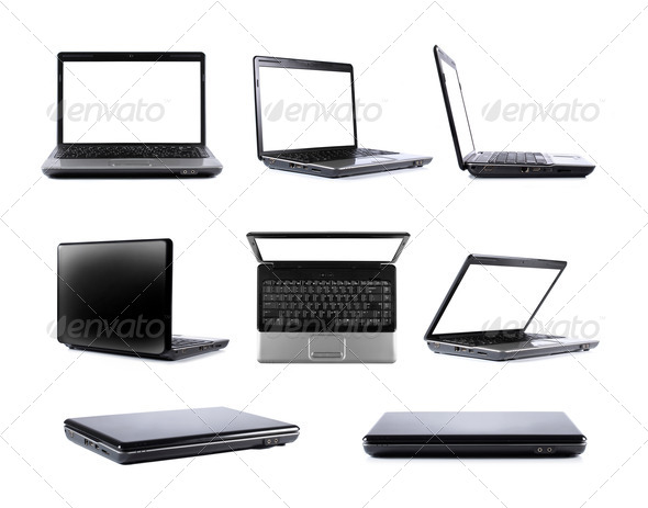 Laptop collection - Stock Photo - Images