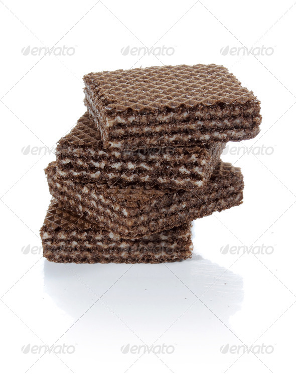 chocolate wafer - Stock Photo - Images
