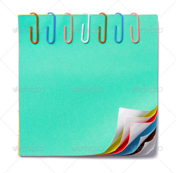 colorful note - Stock Photo - Images