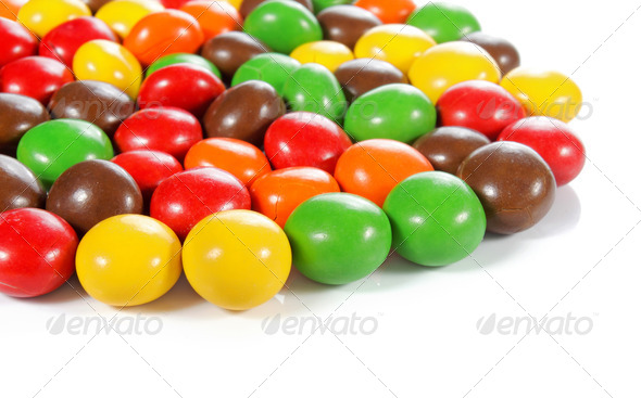 colorful chocolate candy - Stock Photo - Images