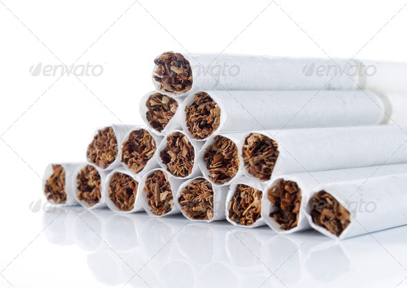 many cigarette - Stock Photo - Images