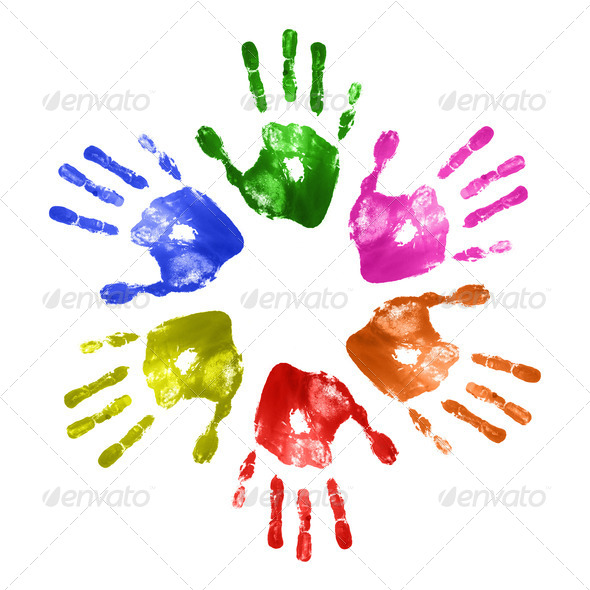 Hand prints - Stock Photo - Images